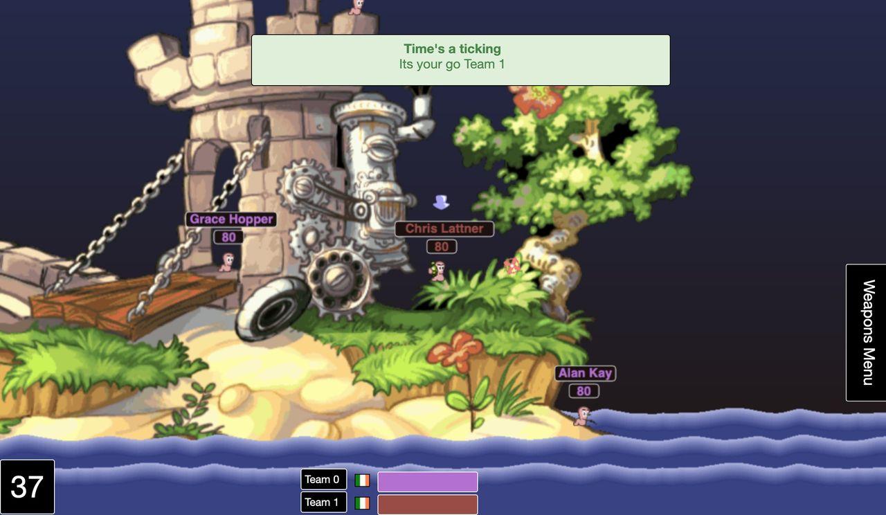 Spela en Worms Armageddon-klon