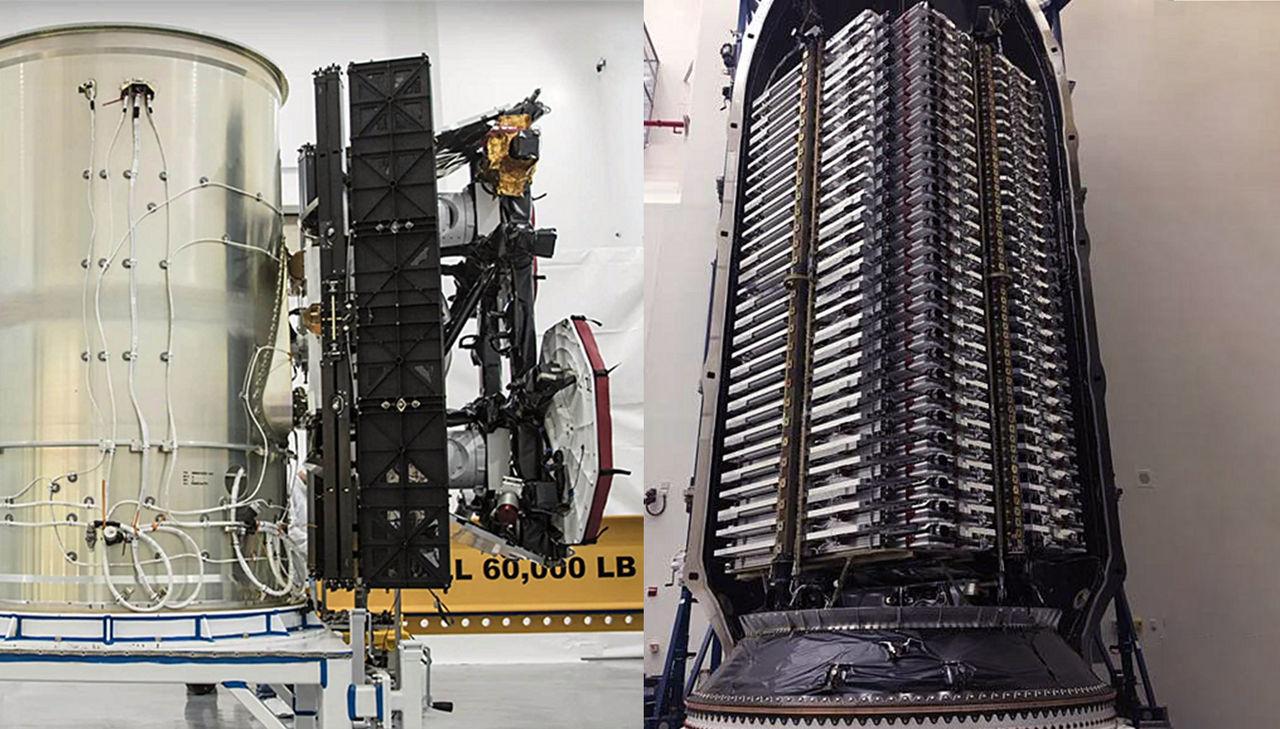 Elon Musk visar Falcon 9 lastad med StarLink-satelliter