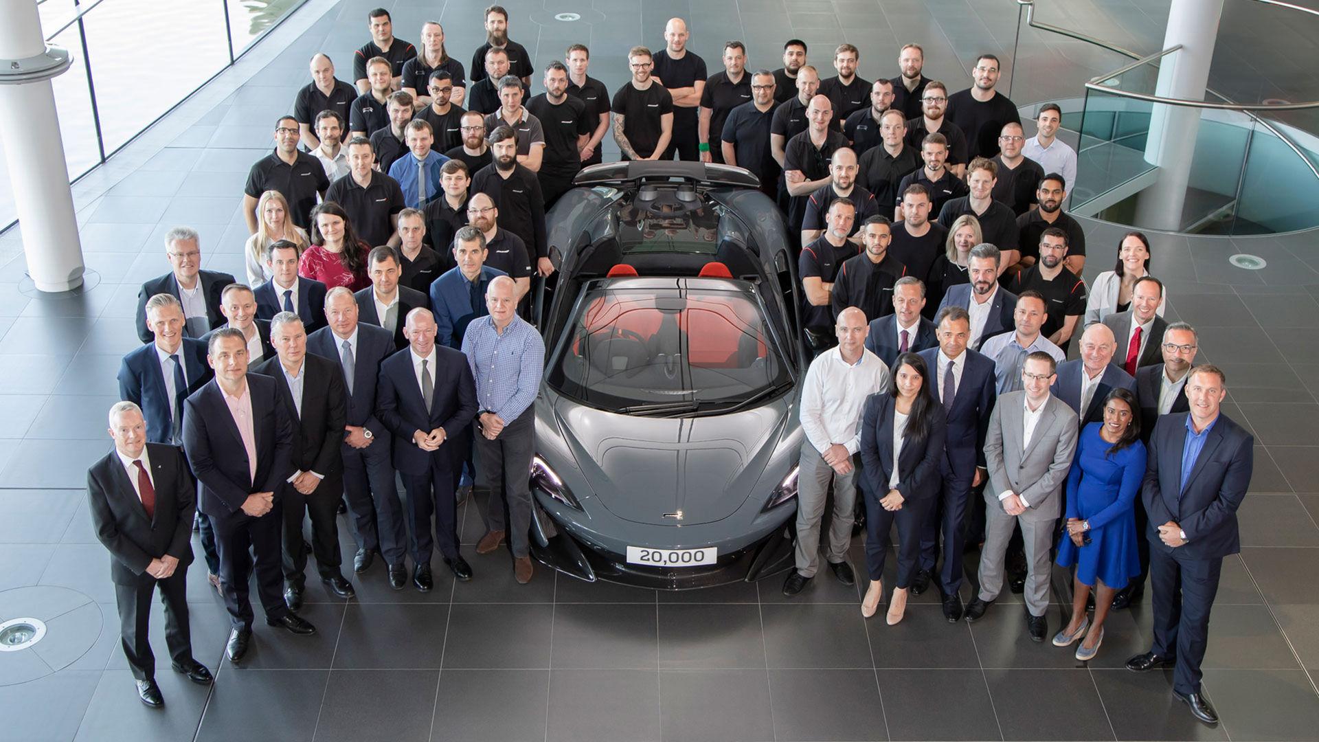 McLaren har nu tillverkat 20.000 bilar