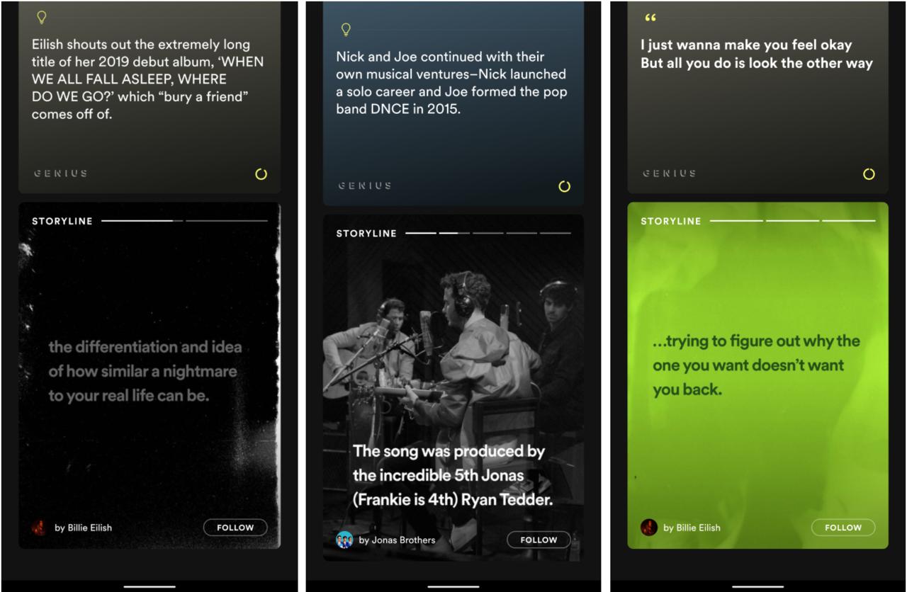 Spotify lanserar storylines