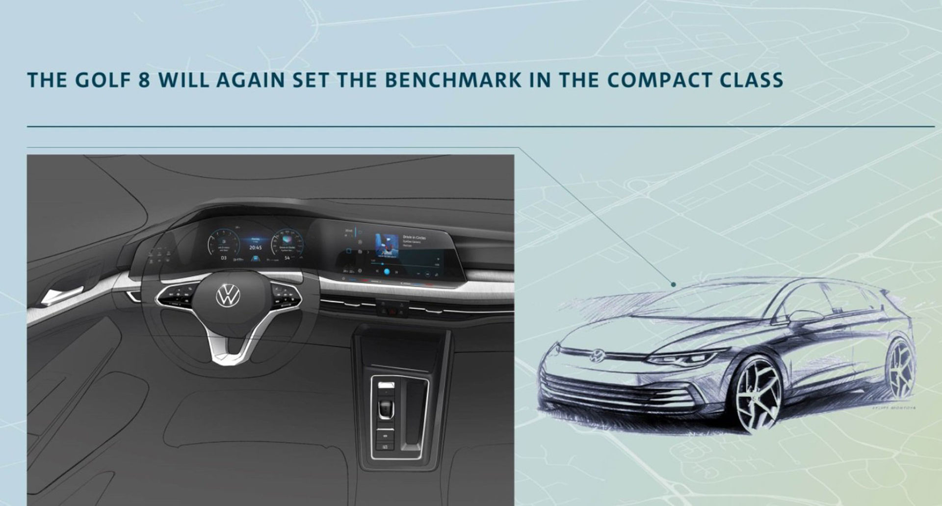 Liten titt på nya Volkswagen Golfs insida