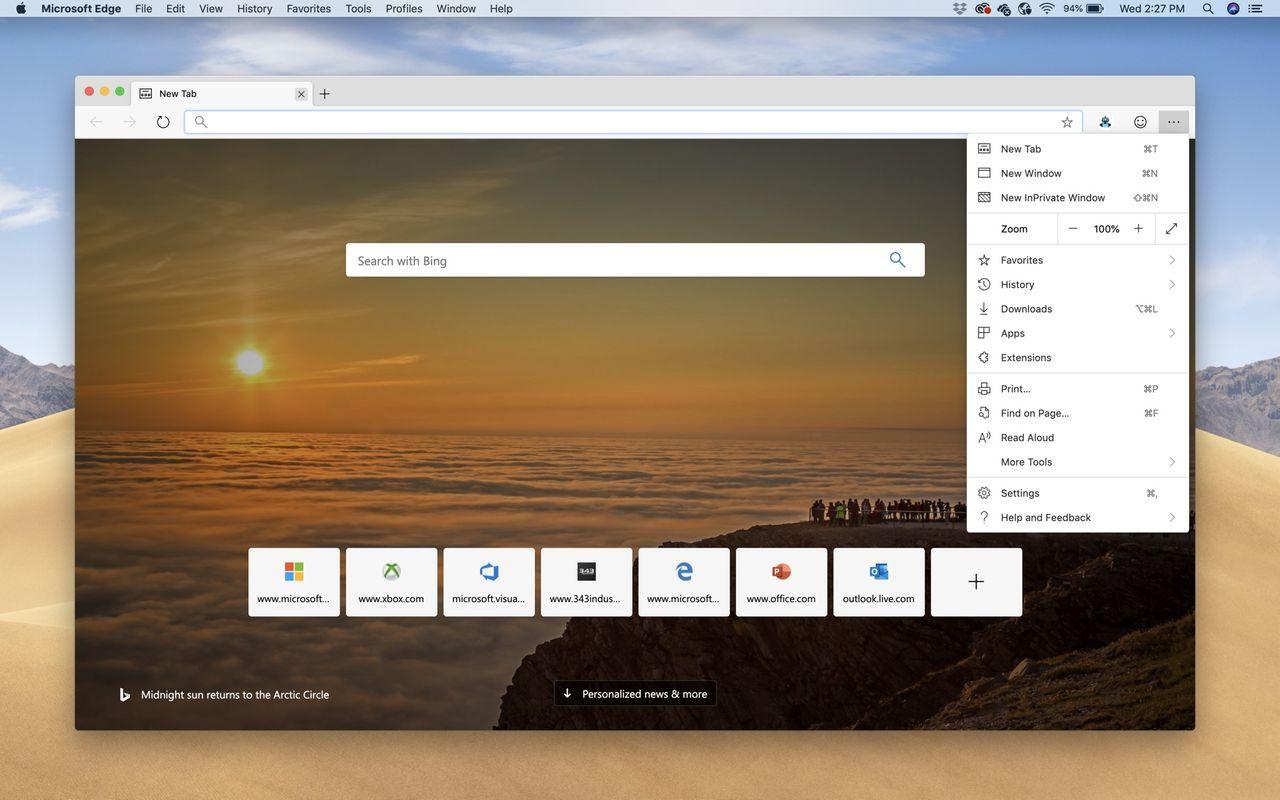 Microsoft släpper webbläsaren Edge till macOS