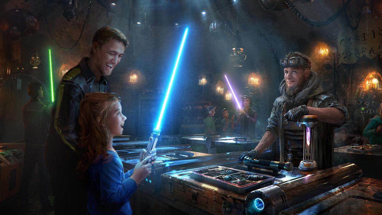 Bygg din egen ljussabel på Star Wars nöjesfält