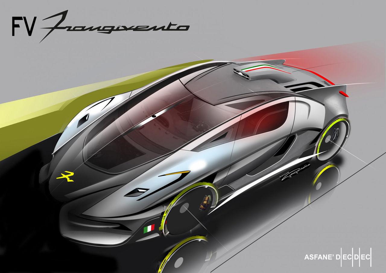 Skiss på FV Frangiventos hybrid-koncept Asfane Dieci Dieci