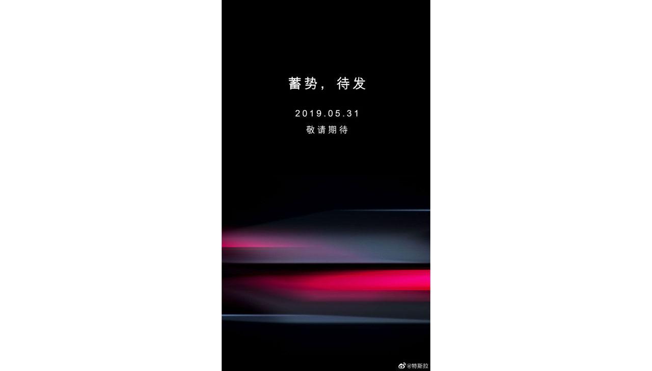 Tesla visar något i Kina nu på fredag