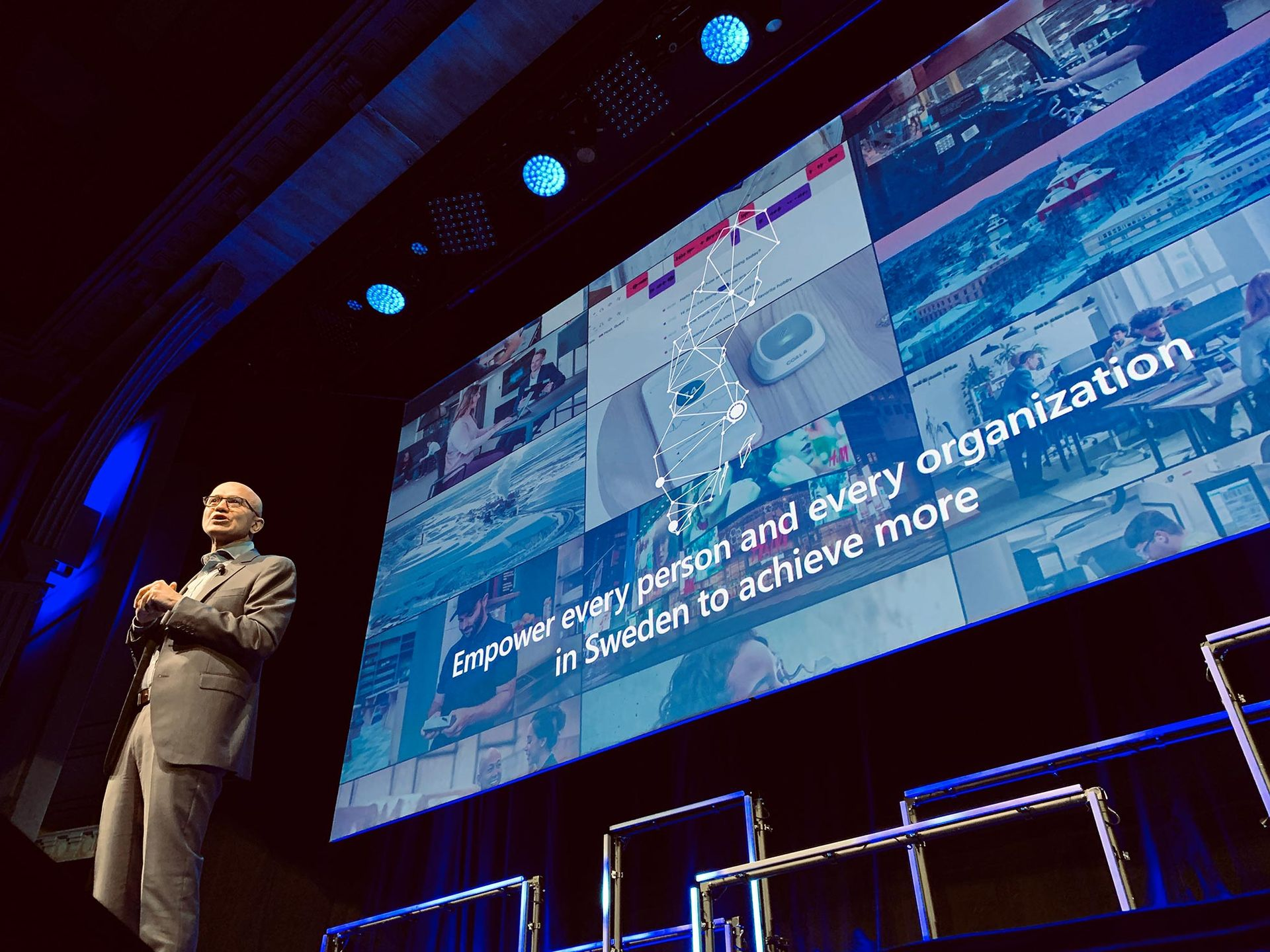 Microsofts vd Satya Nadella på besök i Stockholm