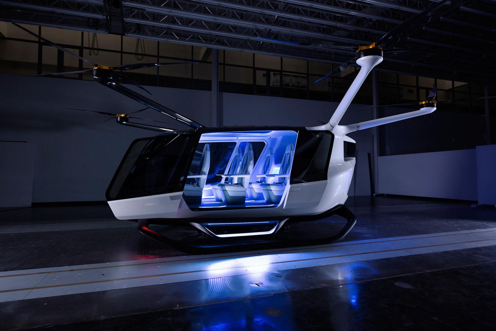 Skai är en flygande taxi som drivs av väte