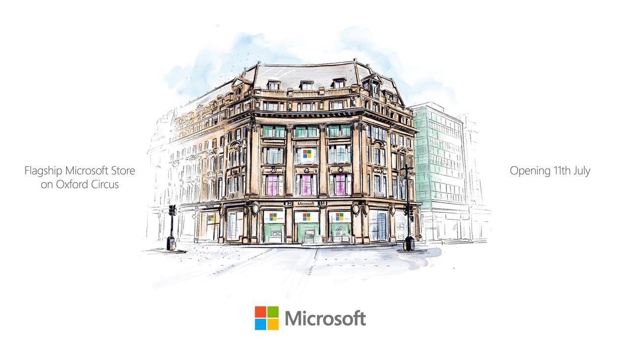 Microsoft öppnar snart sin första flaggskeppsbutik i Europa