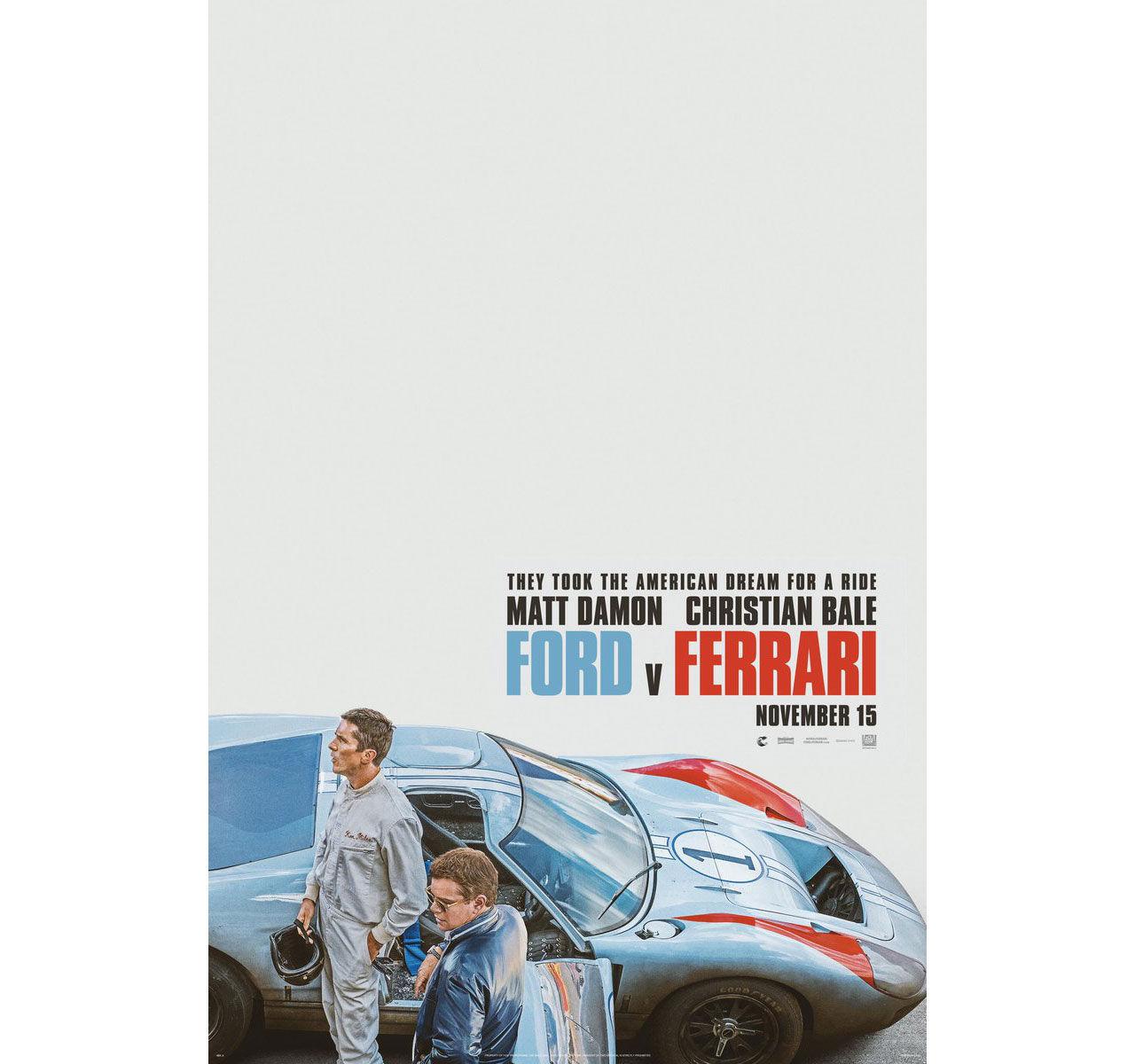 Filmaffischen till Ford v Ferrari
