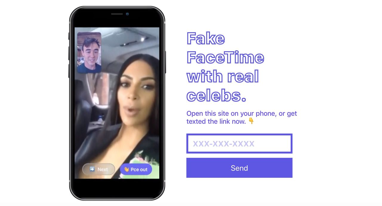 Nu kan du låtsas facetajma med kändisar