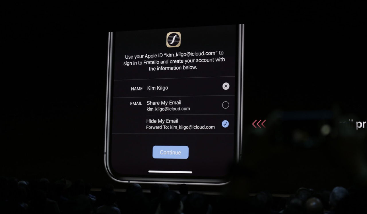 Sign in with Apple håller din information säker från appar