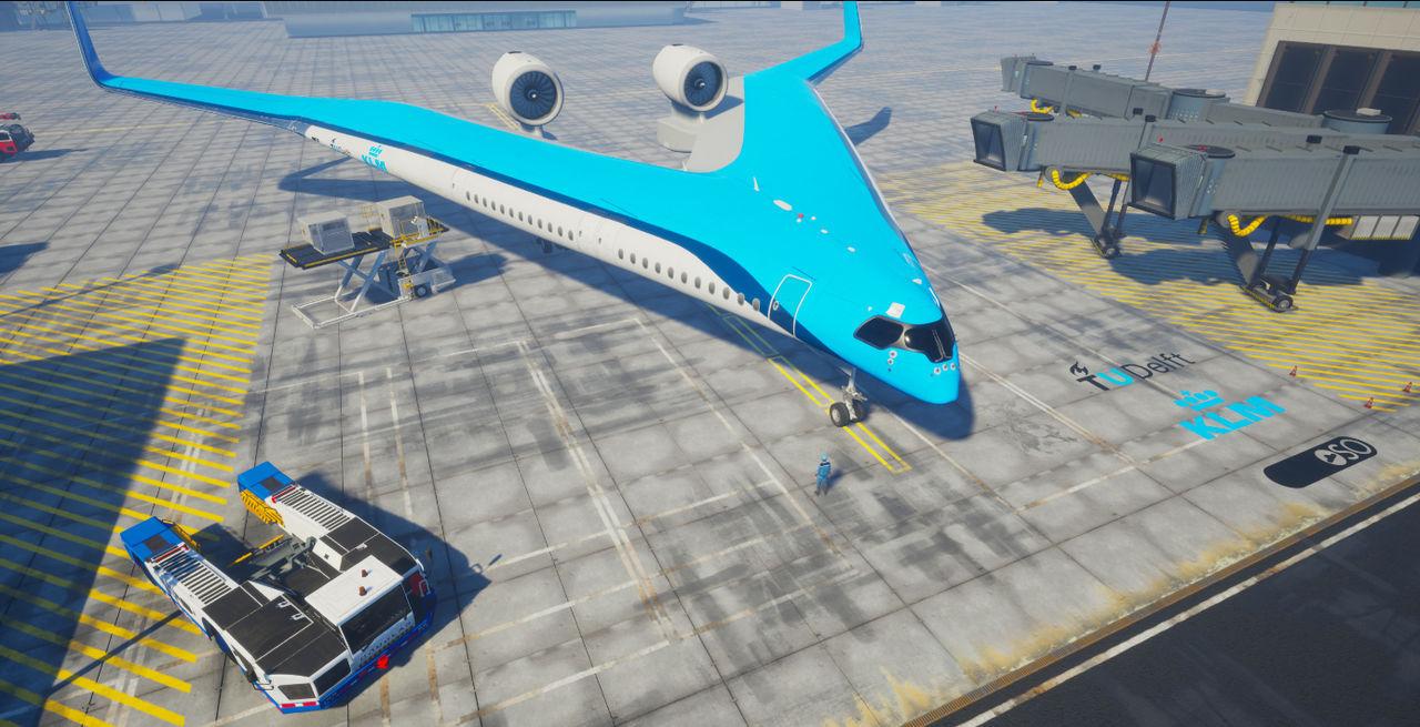 KLM och europeiska universitet utvecklar flygplanet Flying-V