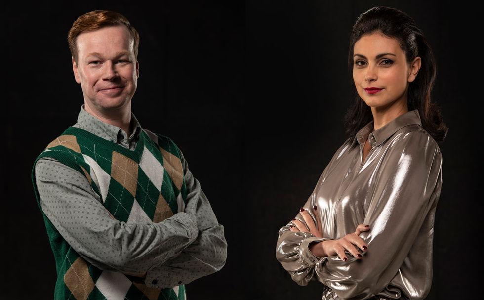 Johan Glans och Morena Baccarin ska gör scifi-serie