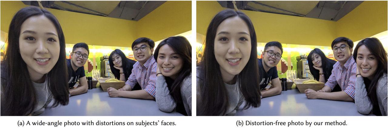 Googles AI fixar förvrängda ansikten i vidvinkelbilder