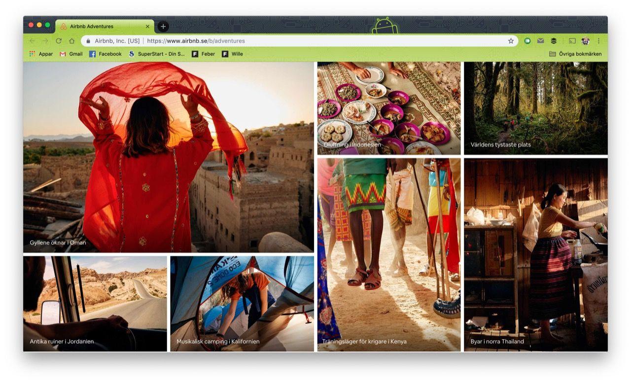 Nu kan man hitta äventyr på Airbnb