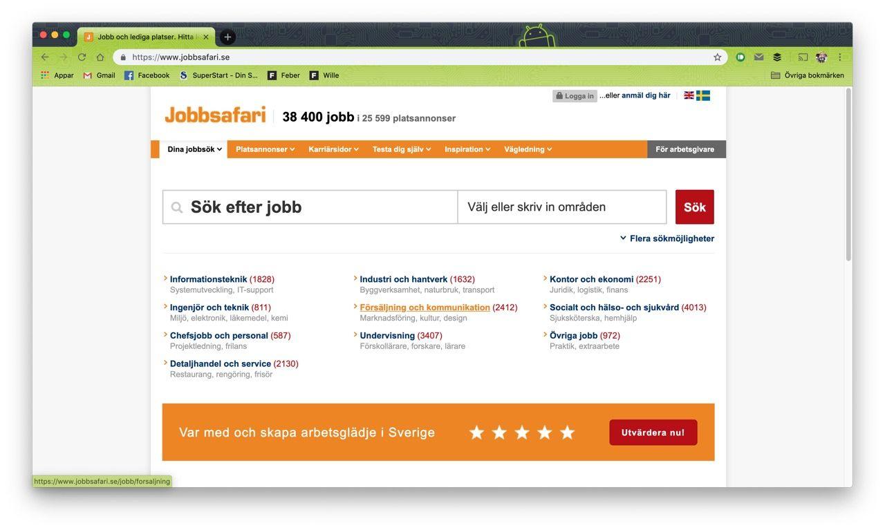 Blocket köper jobbtjänsten Jobbsafari