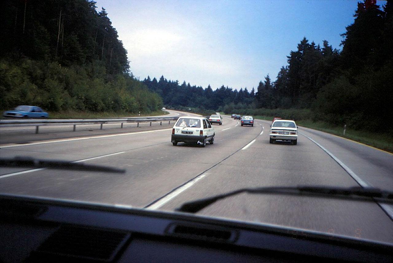 Hastigheten på Autobahn sänks tillfälligt