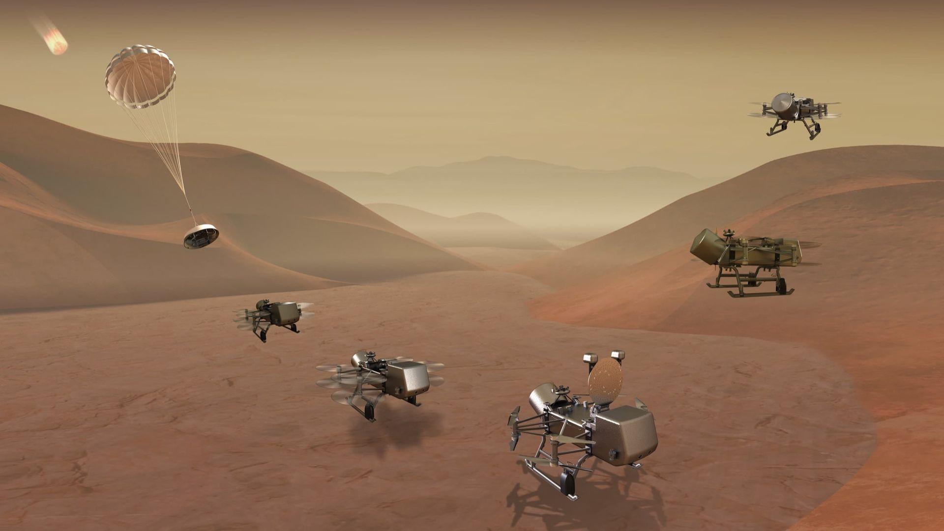 NASA ska skicka en drönare till Saturnus måne Titan
