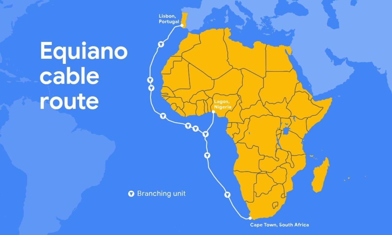 Google lägger en kabel mellan Europa och Afrika