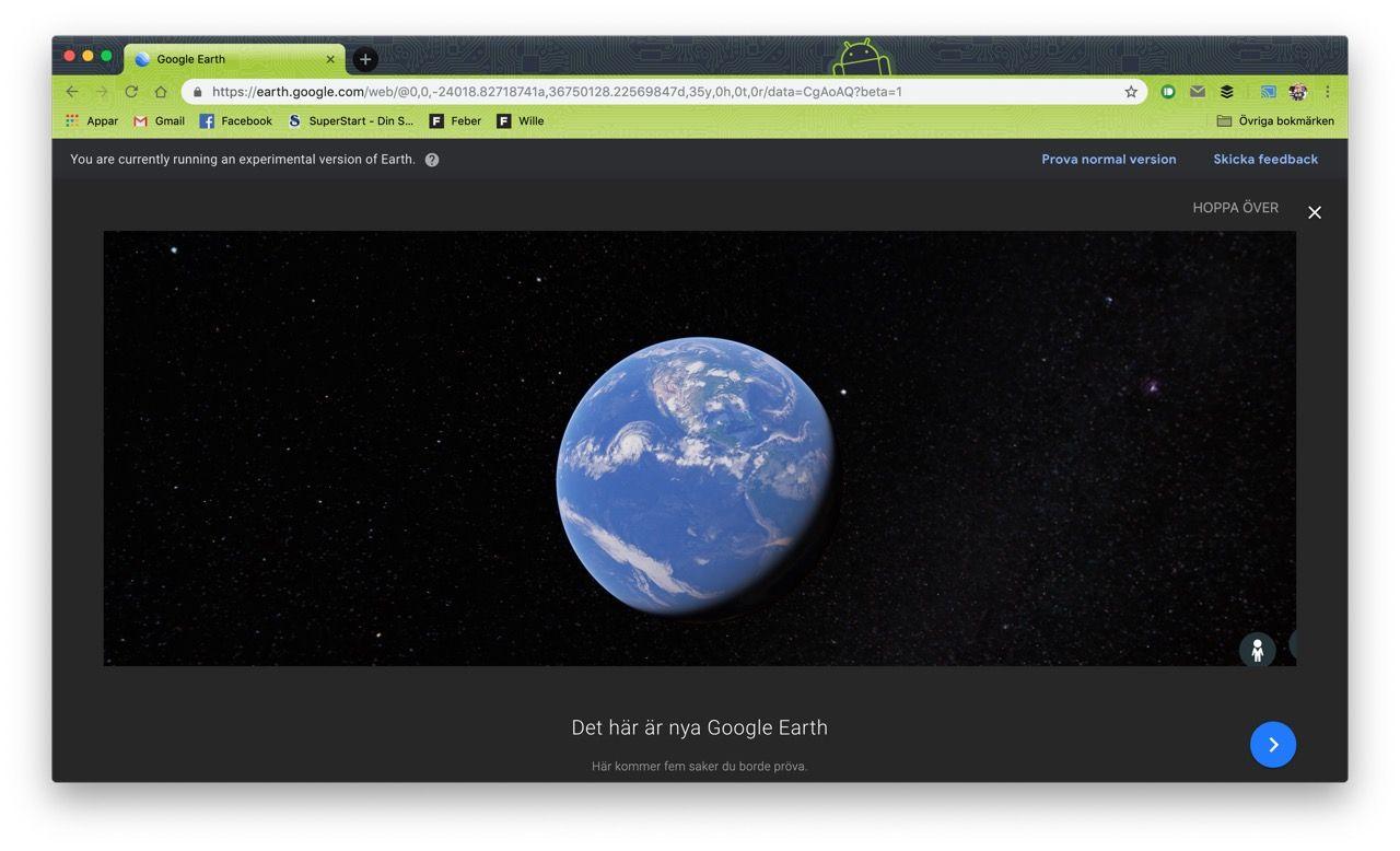 Google Earth portat till WebAssembly
