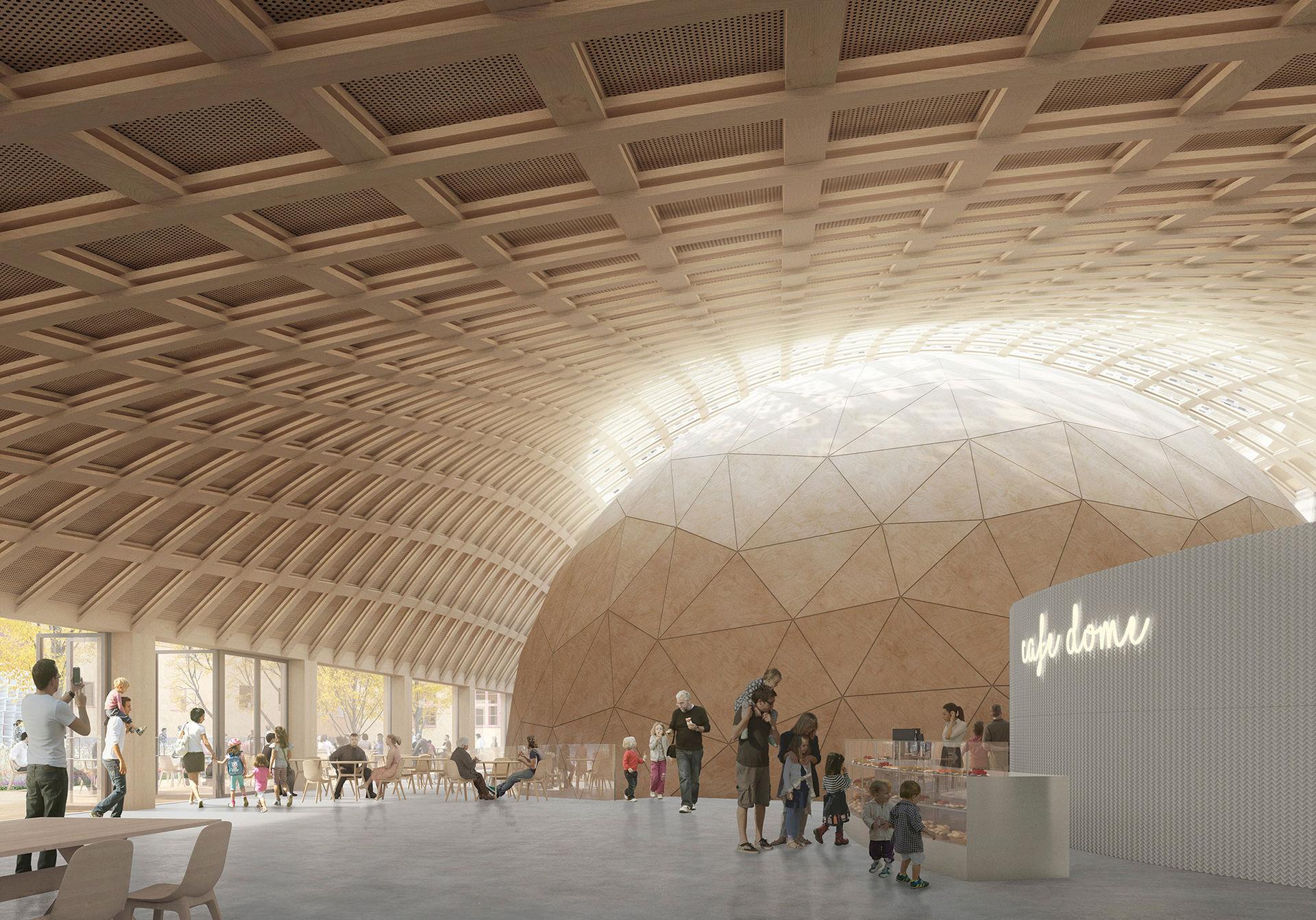 Smart hus i trä byggs vid Tekniska museet