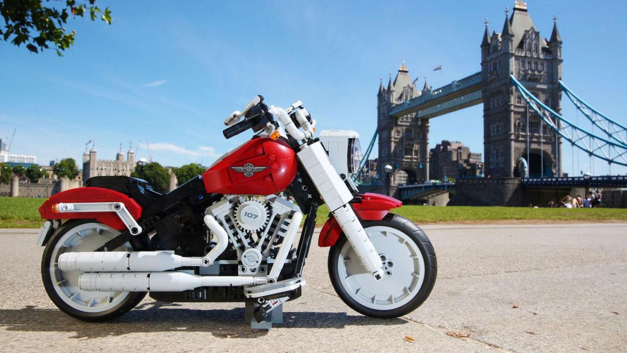 Harley-Davidson Fat Boy i Lego
