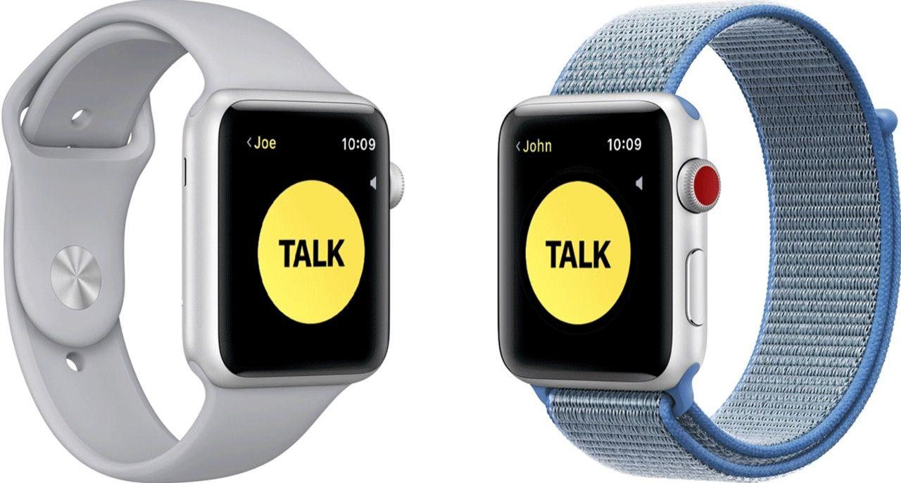 Apple Watch Walkie-Talkie-funktion avstängd