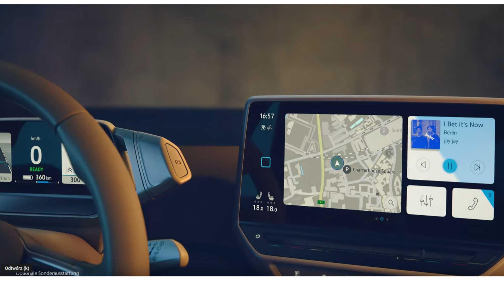 Instrumenteringen i Volkswagen ID.3 läcker ut