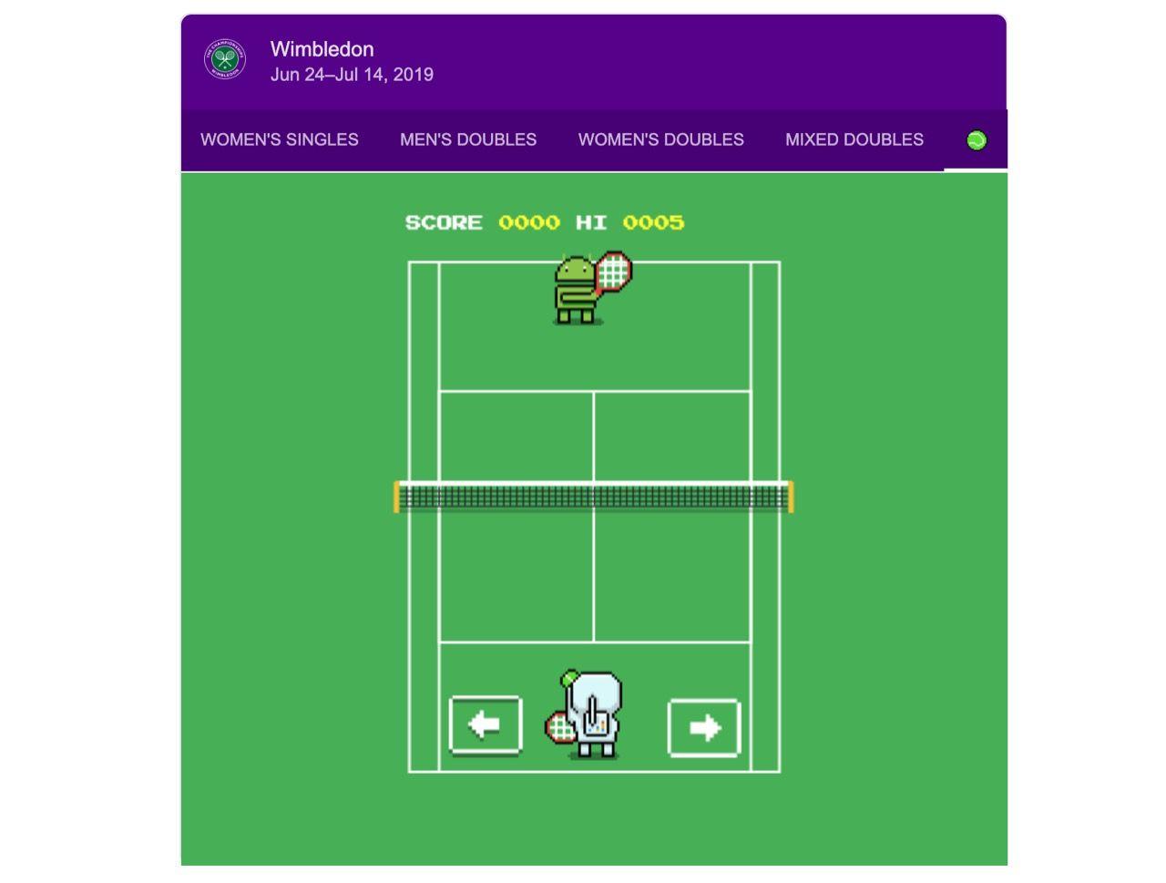 Google släpper tennisspel som påskägg