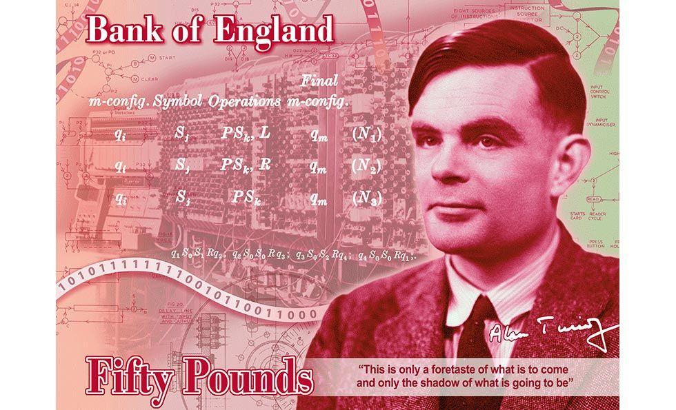Alan Turing kommer att pryda 50-pundssedeln