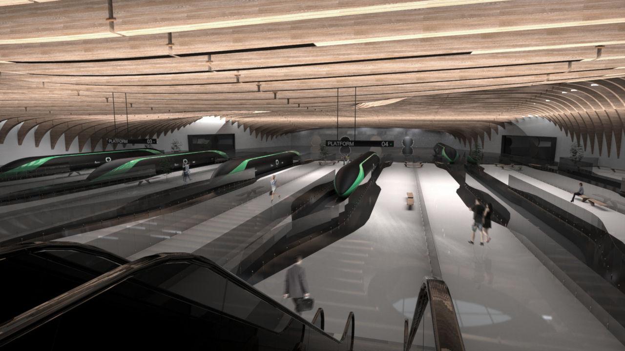Så här kan en Hyperloop-station se ut