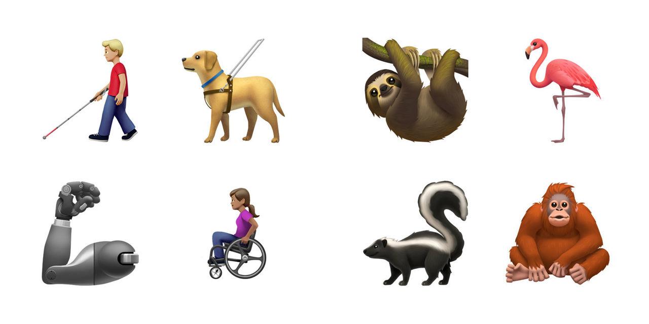 Apple och Google visar upp lite nya emojis