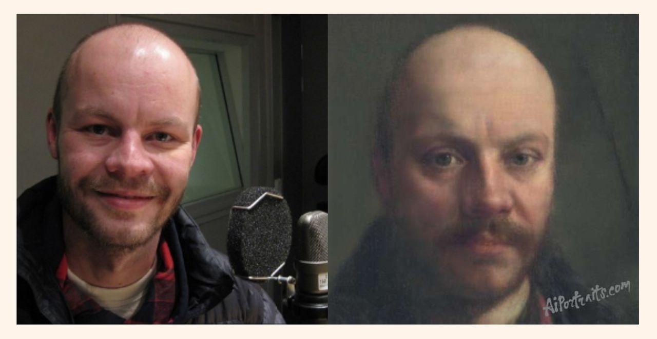 AI Portraits gör målningar av bilder