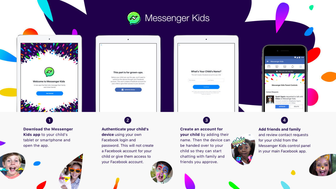 Facebook Messenger Kids lät barn prata med okända