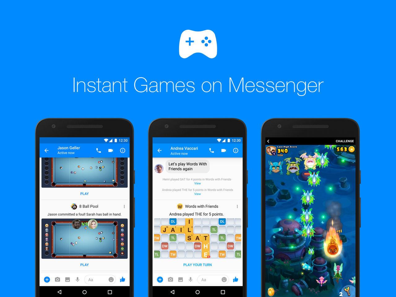 Facebook Instant Games lämnar Messenger
