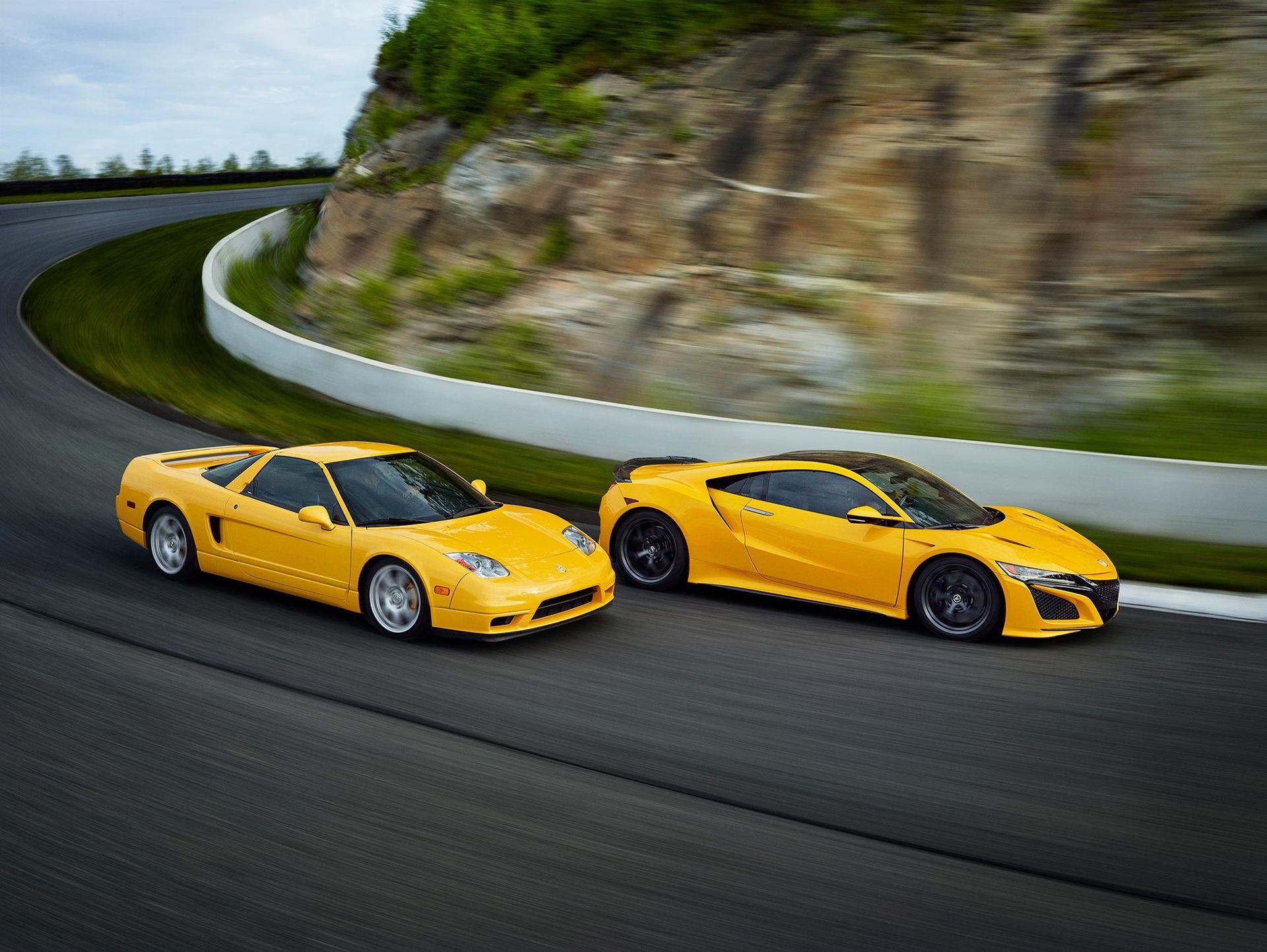 Honda NSX kommer i klassisk gul färg