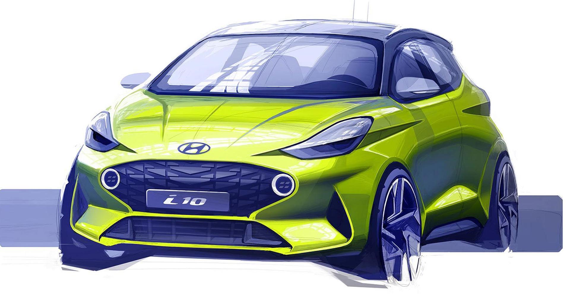 Skiss på nya Hyundai i10
