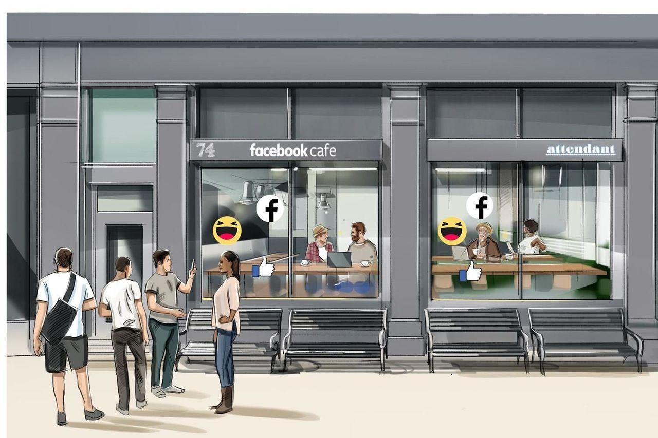 Facebook ska öppna popup-caféer i Storbritannien