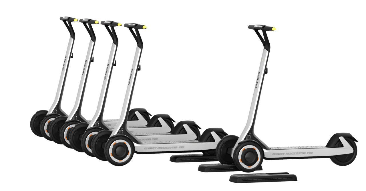 Segway Ninebots nya elsparkcykel kör själv till batteriladdaren