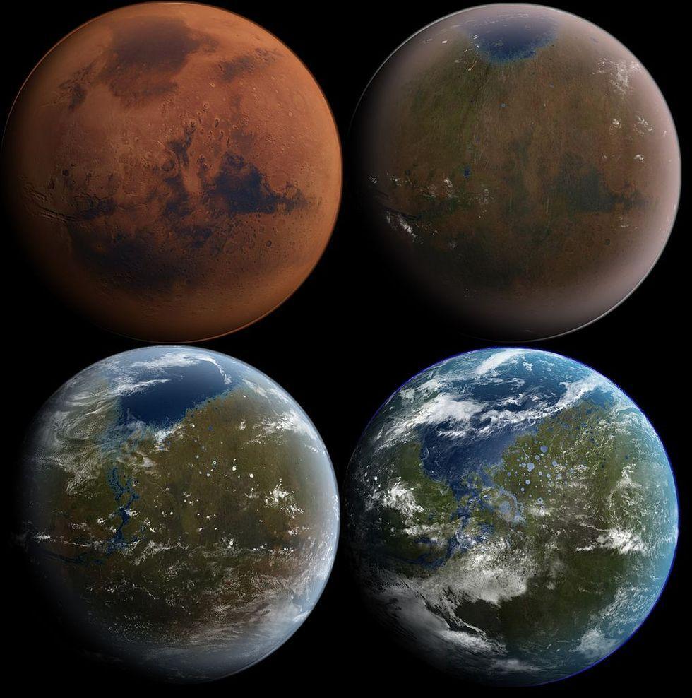 Elon Musk verkar fortsatt vilja bomba Mars