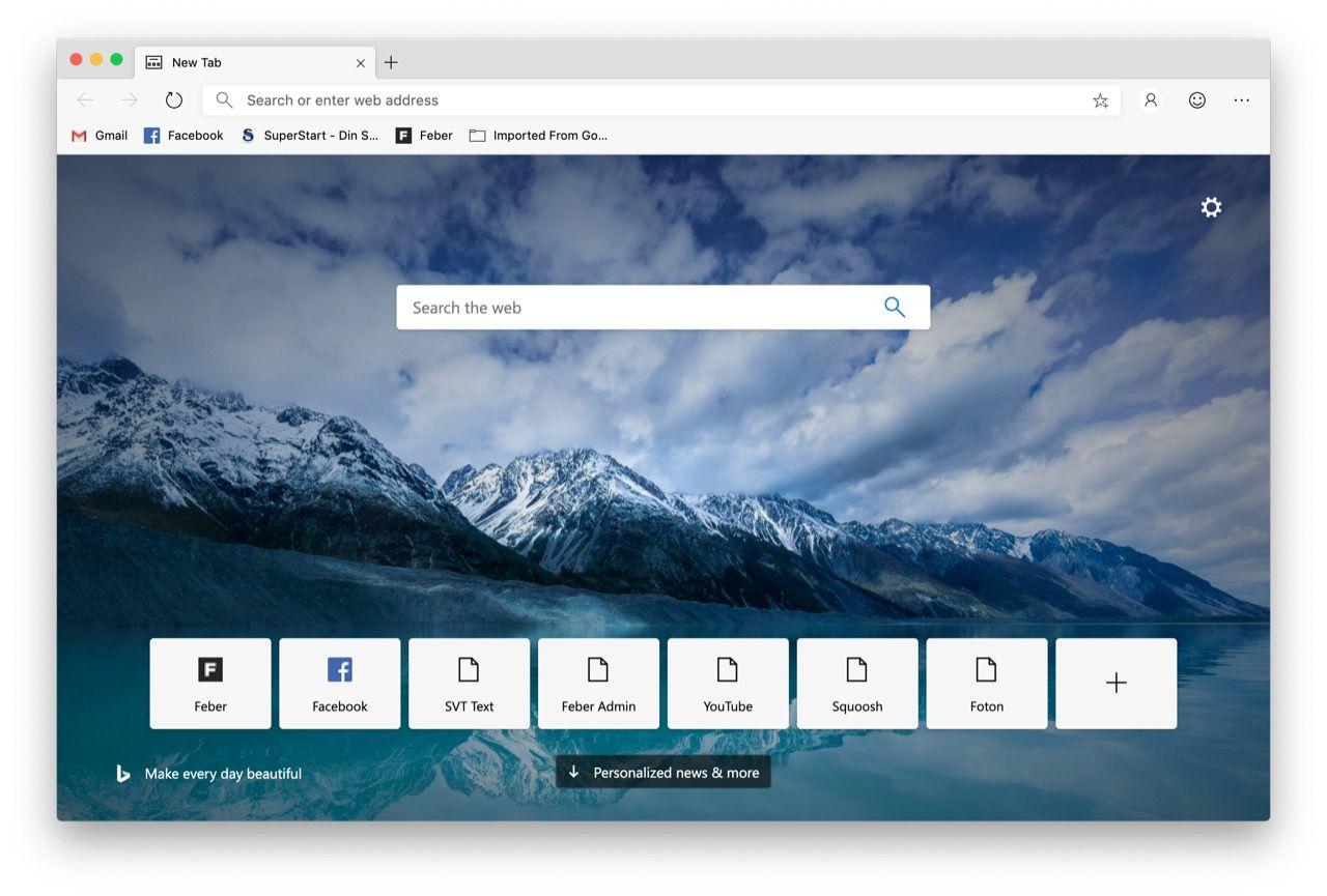 Chromium-versionen av Microsoft Edge släppt i betaversion