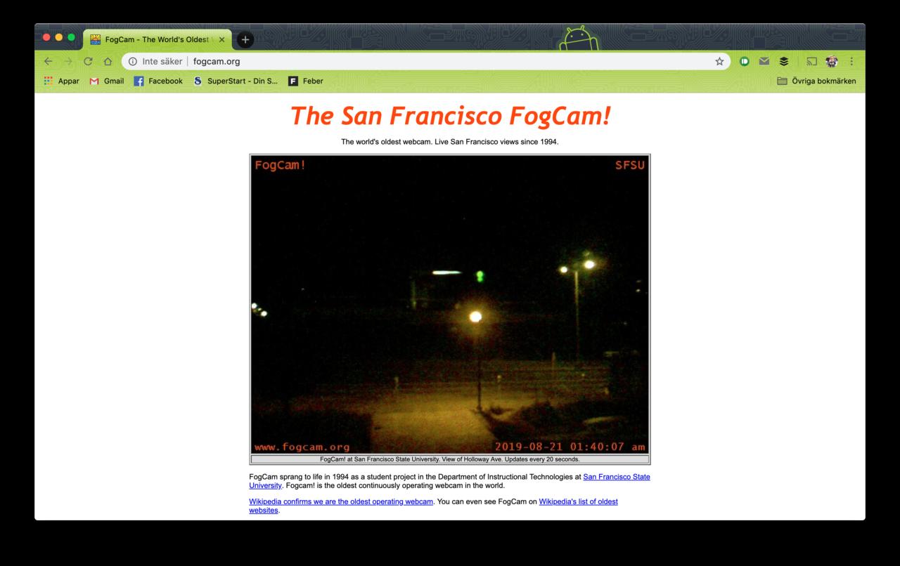 Världens äldsta aktiva webbkamera stängs snart av