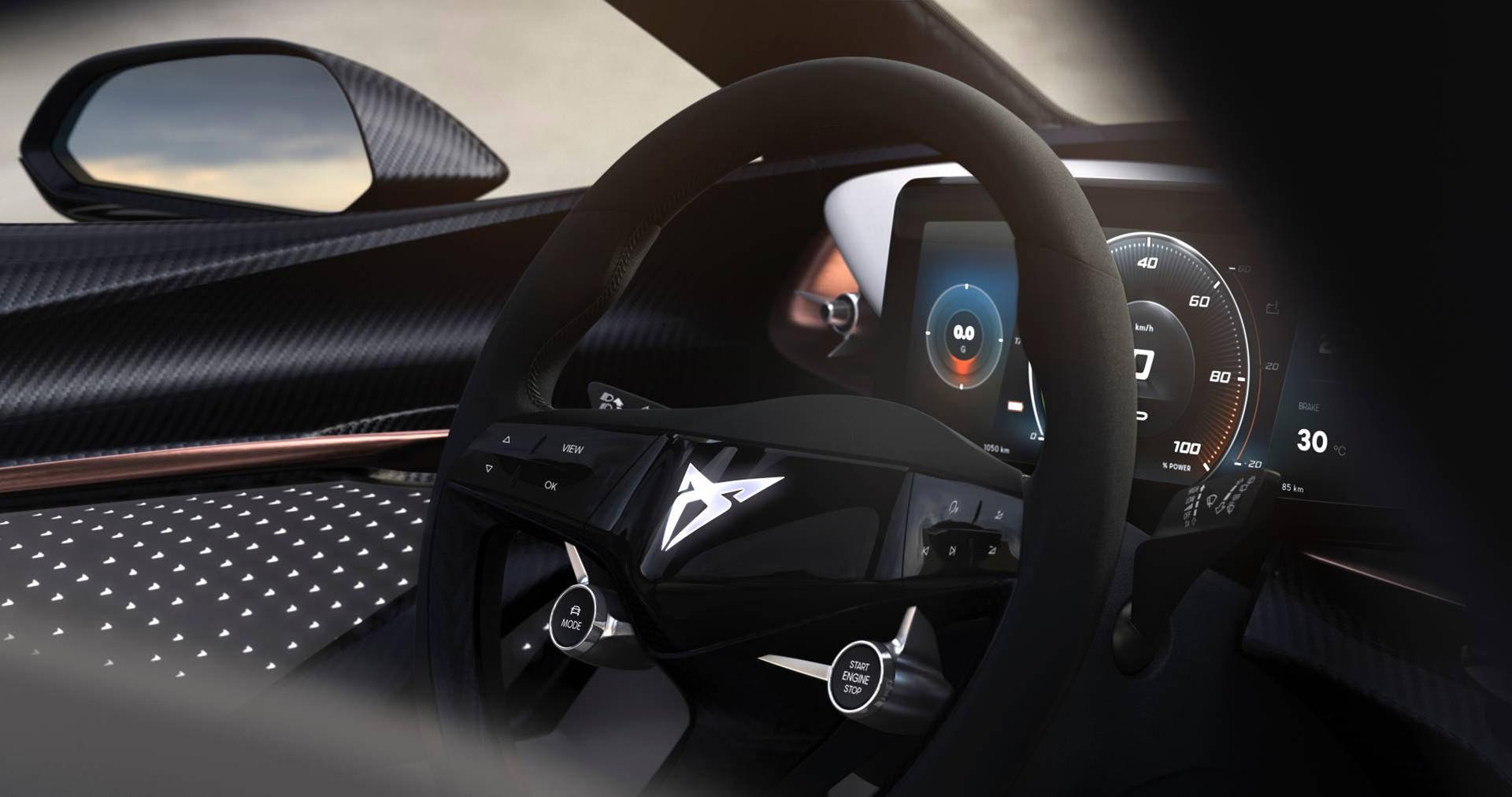 Lite av insidan på Cupras eldrivna SUV