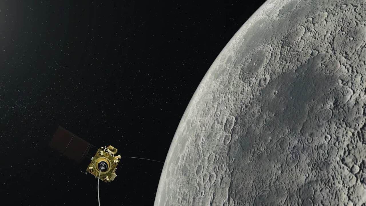 Indisk månlandare har nu lagt sig i månens omloppbana