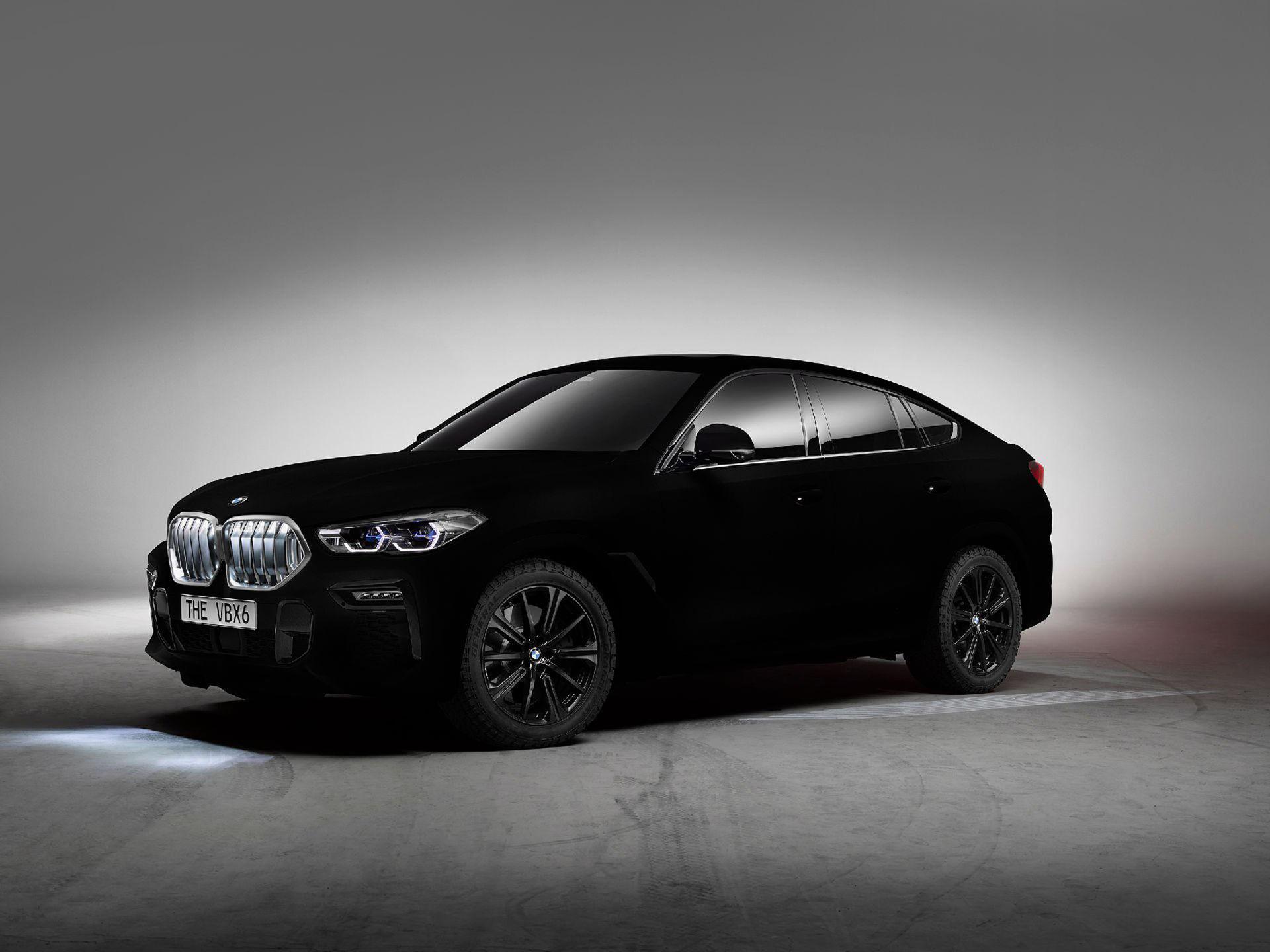 BMW har lackat en X6 i Vantablack