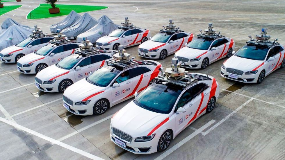 Nu kommer självkörande taxis till Shanghai