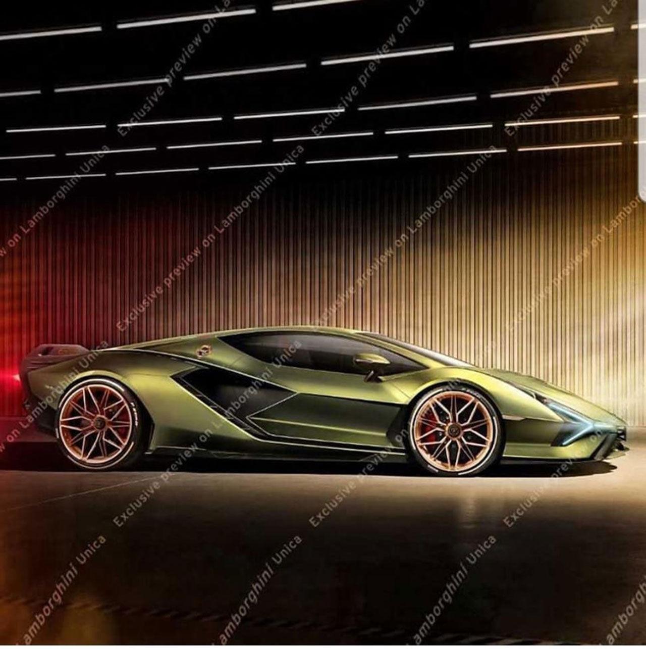 Lamborghini Sian läcker ut