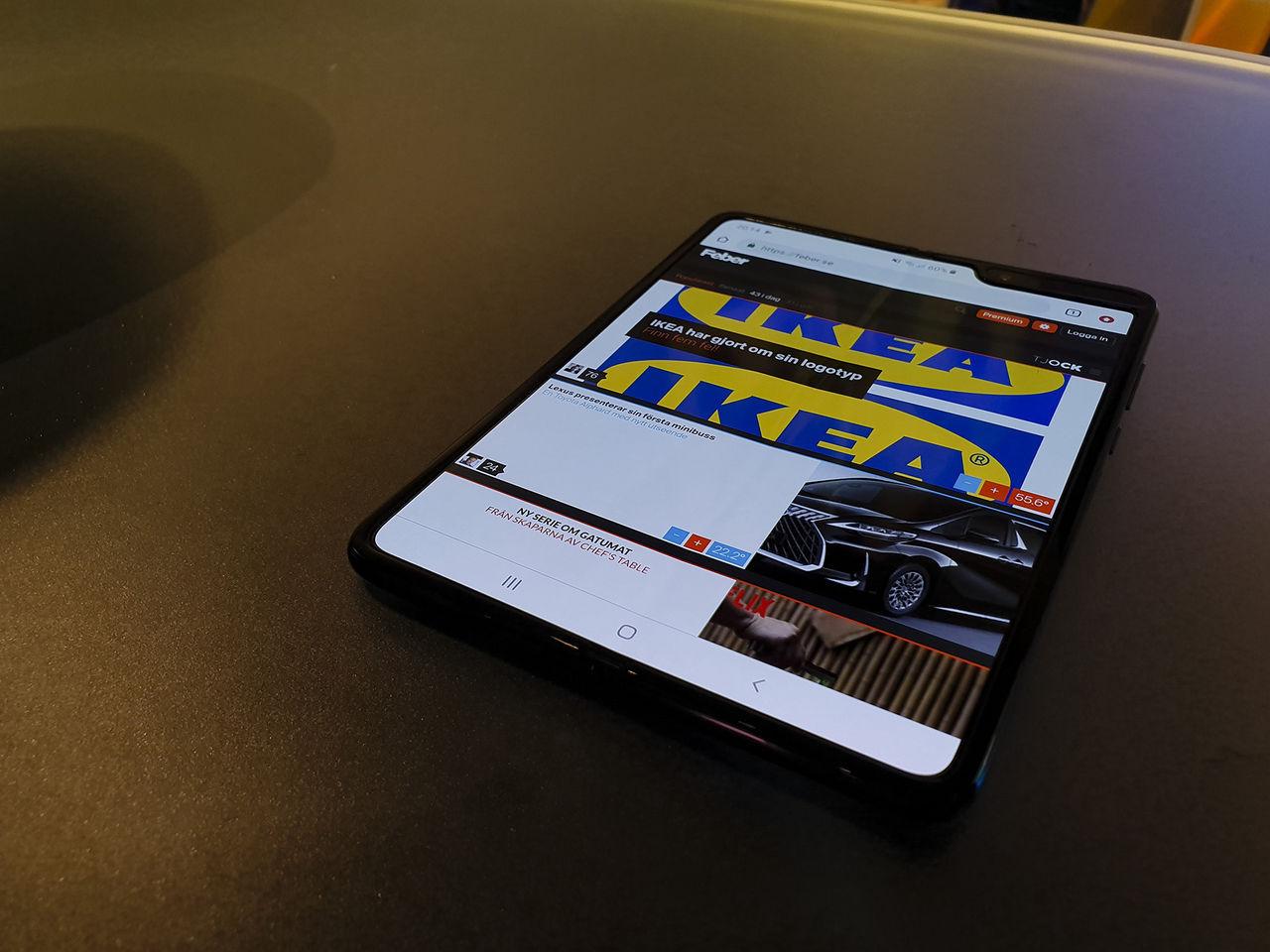 Livstecken från Samsung Galaxy Fold