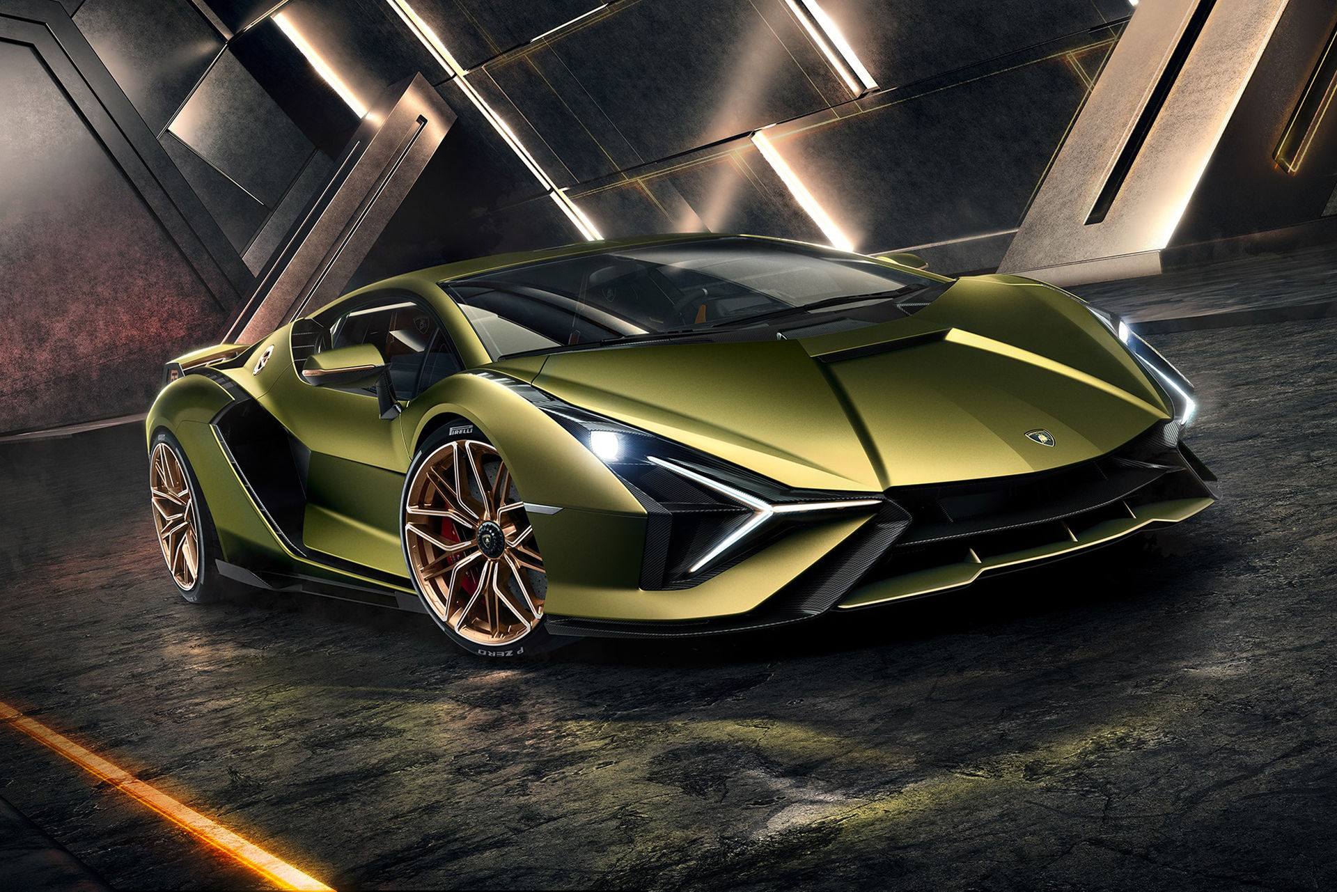 Lamborghini presenterar sin första hybrid - Sián