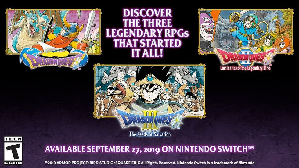 Dragon Quest 1, 2 och 3 på ingång till Switch